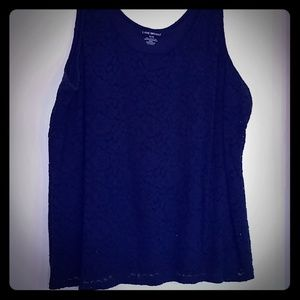 Long lace and cotton tank